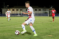 GEORGETOWN, GRAND CAYMAN, CAYMAN ISLANDS - NOVEMBER 19: Tyler Boyd #21 of the United States turns and moves with the ball during a game between Cuba and USMNT at  Truman Bodden Sports Complex on November 19, 2019 in Georgetown, Grand Cayman.