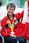 Shelley Gautier, Rio 2016 - Para Cycling // Paracyclisme.<br /> Shelley Gautier wins the bronze in the Para Cycling Time Trial women's T1 // Shelley Gautier remporte la médaille de bronze du Paracyclisme contre la montre féminin T1. 14/09/2016.
