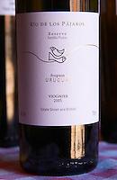 A bottle of Rio de los Pajaros Reserve Familia Pisano Progreso Viognier 2005. Bodega Pisano Winery, Progreso, Uruguay, South America