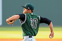 Starting pitcher Chris Marlowe (37) of the Augusta GreenJackets, a San Francisco Giants affiliate, in a game against the Greenville Drive on April 19, 2012, at Fluor Field at the West End in Greenville, South Carolina. Marlowe was a fifth-round pick of the San Francisco Giants in the 2011 First-Year Player draft. (Tom Priddy/Four Seam Images)