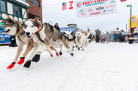 Linwood Fiedler during the ceremonial start of the 2018 Iditarod in Anchorage, Alaska on Saturday, March 1 2018.<br /> <br /> Photo by Jeff Schultz/SchultzPhoto.com  (C) 2018  ALL RIGHTS RESERVED