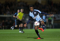 Jason Banton of Wycombe Wanderers takes a shot during the Capital One Cup match between Wycombe Wanderers and Fulham at Adams Park, High Wycombe, England on 11 August 2015. Photo by Andy Rowland.