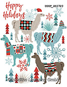 Lamont, GIFT WRAPS, GESCHENKPAPIER, PAPEL DE REGALO, paintings+++++,USGTNS1723,#gp#,#x# christmas,notebook,notebooks,lama,lamas