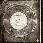 Ancient Westinghouse kilowatt meter (electric meter) Historic mining park, Tonopah, Nev.