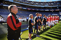 San Diego, CA - Sunday January 29, 2017: Bruce Arena prior to an international friendly between the men's national teams of the United States (USA) and Serbia (SRB) at Qualcomm Stadium.