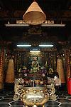 Bao-jhong Yi-min Temple, Kaohsiung -- The main hall of a Taoist temple.