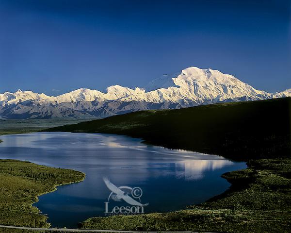 Mount McKinnley and Wonder Lake, Denali National Park, Alaska.  Sept.