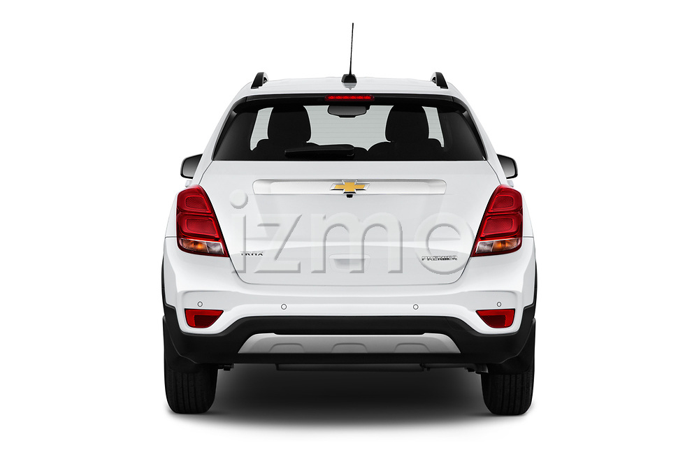 Straight rear view of a 2020 Chevrolet Trax Premier 5 Door SUV stock images