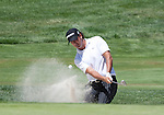 August 7, 2011: Tournament champion Scott Piercy hits out of a sand trap during the Reno-Tahoe Open at Montrêux.