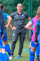 Genk's physical coach Jan Gaens pictured during a female soccer game between KRC Genk Ladies and Sporting Charleroi  on the first matchday of the 2020 - 2021 season of Belgian Women's SuperLeague , friday 28 of August 2020  in Genk , Belgium . PHOTO SPORTPIX.BE   SPP   STIJN AUDOOREN