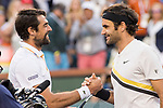 March 14, 2018: Roger Federer (SUI) defeated Jeremy Chardy (FRA) 7-5, 6-4 in Wells Tennis Garden in Indian Wells, California. ©Mal Taam/TennisClix/CSM