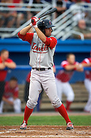 Lowell Spinners Deven Marrero #6 during a game against the Batavia Muckdogs at Dwyer Stadium on July 7, 2012 in Batavia, New York.  Batavia defeated Lowell 3-0.  (Mike Janes/Four Seam Images)