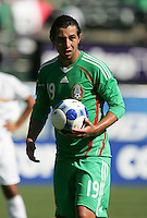 Luis Miguel Noriega prepares for the penalty shot. Mexico defeated Nicaragua 2-0 during the First Round of the 2009 CONCACAF Gold Cup at the Oakland, Coliseum in Oakland, California on July 5, 2009.