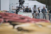 Wout Van Aert (BEL/Crelan-Vastgoedservice) entering his last lap<br /> <br /> 2016 CX Superprestige Spa-Francorchamps (BEL)