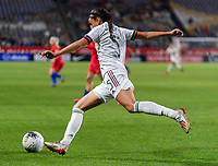 CARSON, CA - FEBRUARY 7: Jimena Lopez #5 of Mexico punts the ball during a game between Mexico and USWNT at Dignity Health Sports Park on February 7, 2020 in Carson, California.