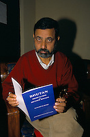 Tek Nath Rizal, ex-advisor to the Bhutanese King Wang-Chuck, is one of 135,000 Lotshampa refugees from Bhutan in Nepal.