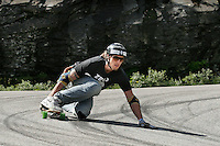 Alex Lyngaas won the first Norwegian dowhill longboard championship. The first ever Norwegian Longboarding Championship was held during the Extreme Sport Week, an annual event that draws adrenalin junkies to the small Norwegian mountain town of Voss. © Fredrik Naumann