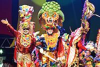 BARRANQUILLA-COLOMBIA- 24-01-2016: La Fiesta de Danzas y Cumbias del Carnaval de Barranquilla 2016 invita a todos los colombianos a contagiarse del Jolgorio general encabezado por su reina Marcela Garcia Caballero. Este desorden organizado dará la oportunidad de apreciar a propios y extraños el desfile de danzas, disfraces y hacedores del carnaval que la convierten en una de las festividades más importantes del país y que se lleva a cabo hasta el 9 de febrero de 2016. / The party of Dances and Cumbias of Carnaval de Barranquilla 2016 invites all Colombians to catch the general reverly led by their Queen Marcela Garcia Caballero. This organized disorder gives the oportunity to appreciate, by friends and strangers, the parade of dancers, customes and carnival makers that make it one of the most important festivals of the country and take place until February 9, 2016.  Photo: VizzorImage / Alfonso Cervantes / STR