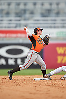 Tyler Daughtry (3) of Veterans High School in Kathleen, Georgia playing for the Baltimore Orioles scout team during the East Coast Pro Showcase on July 28, 2015 at George M. Steinbrenner Field in Tampa, Florida.  (Mike Janes/Four Seam Images)
