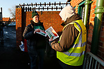 A Blyth fan buying a programme. Blyth Spartans v Brackley Town, 30112019. Croft Park, National League North. Photo by Paul Thompson.
