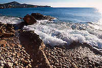 Spanien, Balearen, Ibiza, Strand bei Es Botafoc