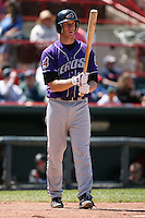 May 31, 2009:  Third Baseman Jared Goedert of the Akron Aeros at bat during a game at Jerry Uht Park in Erie, NY.  The Aeros are the Eastern League Double-A affiliate of the Cleveland Indians.  Photo by:  Mike Janes/Four Seam Images