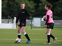 Aalst's Loes Van Mullem (33) pictured during the warm up before a female soccer game between Oud Heverlee Leuven and Eendracht Aalst Ladies  on the third matchday of the 2020 - 2021 season of Belgian Womens Super League , Sunday 4 th of October 2020  in Heverlee , Belgium . PHOTO SPORTPIX.BE | SPP | SEVIL OKTEM