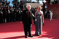 Richard Dreyfuss and his wife .Cannes 23/5/2013 .66mo Festival del Cinema di Cannes 2013 .Foto Panoramic / Insidefoto .ITALY ONLY
