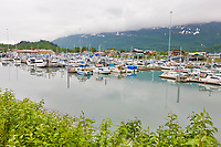 Boat harbor in the coastal town of Valdez, southcentral, Alaska.