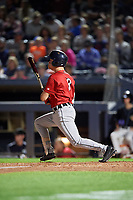 Erie SeaWolves Kody Clemens (8) at bat during an Eastern League game against the Akron RubberDucks on August 30, 2019 at Canal Park in Akron, Ohio.  Erie defeated Akron 3-2.  (Mike Janes/Four Seam Images)