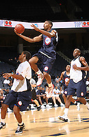Cameron Clark handles the ball during the 2009 NBPA Top 100 Basketball Camp held Friday June 17- 20, 2009 in Charlottesville, VA. Photo/ Andrew Shurtleff.