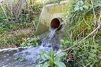 Field drain running in April