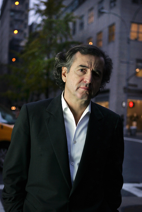 (file pic)...French writer BERNARD-HENRI LEVY on Madison Avenue.  His new book, AMERICAN VERTIGO, recounts his travels through America in the footsteps of Alexis de Toqueville.  E. 76 St., NYC.  Newsday/ARI MINTZ  11/21/2005.