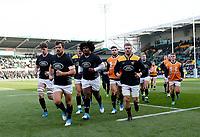 Photo: Richard Lane/Richard Lane Photography. Gallagher Premiership. Northampton Saints v Wasps. 17/11/2018. Wasps warm up.