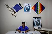 """Mr Omar, union leader of coca growers known as """"cocaleros"""" in the Chapare region, poses for a picture at the union's head office in Villa Tunari, Bolivia. November 29, 2019.<br /> M. Omar, dirigeant syndical des cultivateurs de coca connus sous le nom de """"cocaleros"""" dans la région du Chapare, pose pour une photo au siège du syndicat à Villa Tunari, en Bolivie. 29 novembre 2019."""