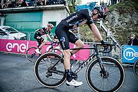 Romain Bardet (FRA/DSM) arriving at the finish<br /> <br /> 104th Giro d'Italia 2021 (2.UWT)<br /> Stage 19 from Abbiategrasso to Alpe di Mera (Valsesia)(176km)<br /> <br /> ©kramon