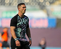 24th April 2021; Liberty Stadium, Swansea, Glamorgan, Wales; Rainbow Cup Rugby, Ospreys versus Cardiff Blues; George North of Ospreys during the warm up