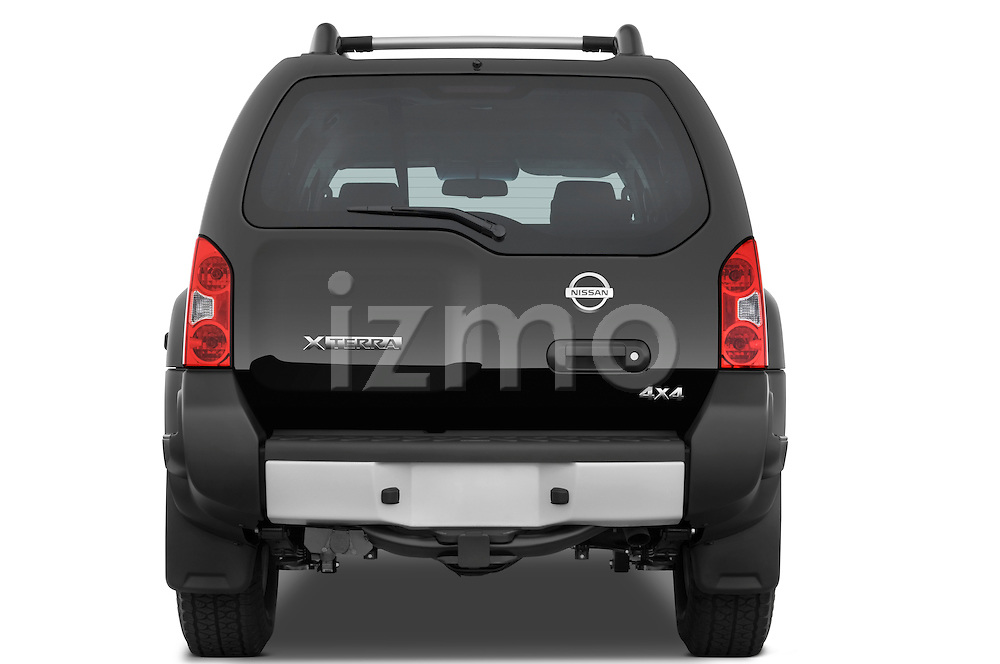 Straight rear view of a 2009 Nissan Xterra Off Road