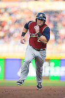 Kyle Roller (23) of the Scranton/Wilkes-Barre RailRiders hustles towards third base during the game against the Durham Bulls at Durham Bulls Athletic Park on May 15, 2015 in Durham, North Carolina.  The RailRiders defeated the Bulls 8-4 in 11 innings.  (Brian Westerholt/Four Seam Images)