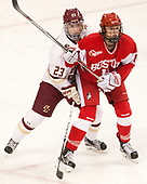 Andie Anastos (BC - 23), Maddie Elia (BU - 14) - The Boston College Eagles defeated the visiting Boston University Terriers 5-3 (EN) on Friday, November 4, 2016, at Kelley Rink in Conte Forum in Chestnut Hill, Massachusetts.The Boston College Eagles defeated the visiting Boston University Terriers 5-3 (EN) on Friday, November 4, 2016, at Kelley Rink in Conte Forum in Chestnut Hill, Massachusetts.