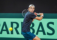 The Hague, The Netherlands, September 11, 2017,  Sportcampus , Davis Cup Netherlands - Chech Republic, training, Tallon Griekspoor (NED)<br /> Photo: Tennisimages/Henk Koster