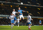 Jon Daly looks to win the throw in