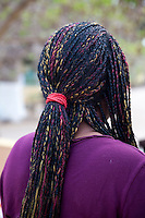 Senegalese Woman with Hair Extensions, Goree Island, Senegal.