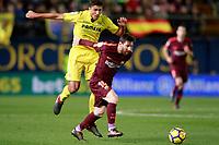 Villarreal CF's Rodrigo Hernandez (l) and FC Barcelona's Leo Messi during La Liga match. December 10,2017. (ALTERPHOTOS/Acero)<br /> Liga Campionato Spagna 2017/2018<br /> Foto Alterphotos / Insidefoto <br /> ITALY ONLY