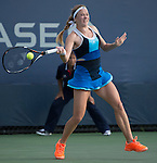 Julia Glushko (ISR) defeats Wildcard Sachia Vickery (USA)  at the US Open being played at USTA Billie Jean King National Tennis Center in Flushing, NY on August 29, 2013
