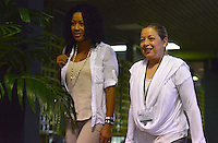 LA HABANA - CUBA, 13-01-2014: Nigeria Rentería (Izq) y Maria PaulinaRiveros miembros del equipo negociador ingresan al Palacio de Las Convenciones de la Habana, Cuba, para comenzar un nuevo ciclo de conversaciones de paz con el grupo guerrillero de las Farc./ Nigeria Renteria (L) and Maria Paulina Riveros members of the negotiating team come into the Conventions' Palace of La Habana, Cuba, to beginning a new round of peace conversations with Farc guerrillas group. Photo: VizzorImage/ Omar Nieto/ Oficina Alto Comicionado para la Paz / HANDOUT PICTURE; MANDATORY USE EDITORIAL ONLY/ TO DOWLOAD THIS PICTURES GO TO THE FREE DOWNLOAD AREA AND ENTER PASSWORD: 54321