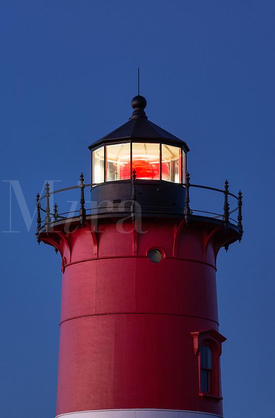 Nauset Lighthouse at dusk, Eastham, Cape Cod, Massachusetts, USA