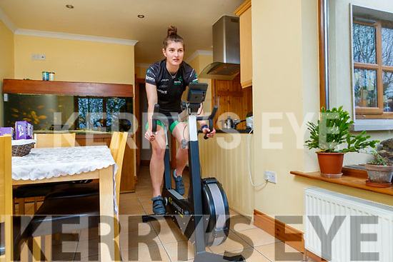 Monika Dukarska who was to row for Ireland in the 2020 Tokyo Olympics pictured training at her home in Killorglin.