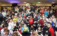 Pictured: Tuesday 06 December 2016<br />Re: Swansea City FC Christmas Party at the Liberty Stadium, Wales, UK