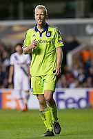 Olivier Deschacht of R.S.C Anderlecht during the UEFA Europa League Group J match between Tottenham Hotspur and R.S.C. Anderlecht at White Hart Lane, London, England on 5 November 2015. Photo by Andy Rowland.